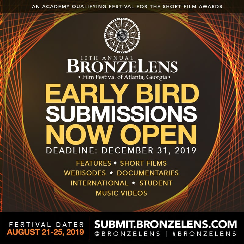 2019 Film Submissions Open Bronzelens Film Festival